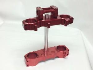 CRF250L 超軽量クランプセット(大径バー用)RED